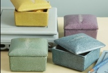 Shagreen / One of the most luxurious and prized materials since the age of pharaohs - is back in the home décor spotlight. While real shark-skin has been used for centuries to make everything from furniture to decorative boxes, our artisan hand-painted porcelain lends beauty and Art Deco style without endangering any species.