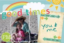 Postcard Designs / Postcard designs created with Memories on the Move app.