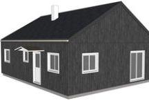Variation de styles autour d'un plan de maison rectangulaire / Il est possible sur la base d'un simple plan rectangulaire de créer un style personnalisé et original sans pour autant avoir un gros budget de construction. Ici l'exemple d'un plan de 80m² au sol (10 x8 m)  soit 75m² habitables en plain pied (modèle Roma : www.syma-maisonbois.fr) avec différentes variations plus ou moins classiques ou contemporaines, nous proposerons également des solutions pour accroître la surface habitable sans augmenter l'emprise au sol.