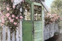 Garden gate - back yard designs and crafts / by Mary Bemker