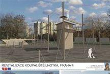 Koupaliště Lhotka Praha 4   ATV2_2013/2014 / Projekty, které vznikly v rámci projektu OPPA Inovace studijního programu A+S v atelieru Kopřiva - Paroubková. ZS 2013/2014. FSv ČVUT v Praze.