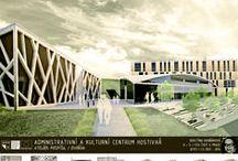 Kulturně administrativní centrum Hostivař AT3_2013/2014 / Projekty, které vznikly v rámci projektu OPPA Inovace studijního programu A+S v atelieru Pospíšil - Dvořák. LS 2013/2014. FSv ČVUT v Praze.