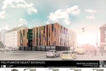 Polyfunkční centrum Bohdalec AT3_2013/2014 / Projekty, které vznikly v rámci projektu OPPA Inovace studijního programu A+S v atelieru Novotná - Knappová. LS 2013/2014. FSv ČVUT v Praze.
