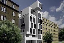 Bytový dům v ulici Gen. Píky ATA1_2013/2014_Kalivoda_Smola / Projekty, které vznikly v rámci projektu OPPA Inovace studijního programu A+S v atelieru Kalivoda - Smola. LS 2013/2014. FSv ČVUT v Praze.
