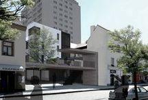 Bytový dům v proluce, Dobříš ATA1_2013/2014 / Projekty, které vznikly v rámci projektu OPPA Inovace studijního programu A+S v atelieru Hoffman - Kašpar. LS 2013/2014. FSv ČVUT v Praze.