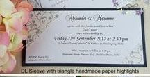 Handmade Invitations / Bespoke, handmade and personalised wedding invitations made by Creative Flair