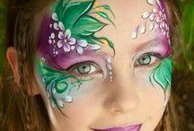 Face painting Butterflies & Flowers