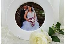 Decorative Photo Plates / Bespoke gifts for family and friends. Photos on a decorative plate. Made in Canberra, Australia