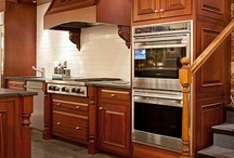 Wolf Cooking Display at Yale Appliance / Wolf cooking products are featured including pro rangetop, wall oven and more / by Yale Appliance