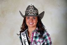 Royalty / The Adams County Fair Royalty program dates back to 1950 when Chloe Plass was crowned the very first Adams County Fair and Rodeo Queen. Since then the mission of the Adams County Fair Royalty Program has been to serve as the Ambassador of the fair traveling around the region promoting the Adams County Fair and the western way of life. There have been a total of 58 young women that have served as the Fair Queen with three continuing on to be crowned Miss. Rodeo Colorado.
