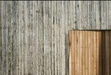 Wood & concrete