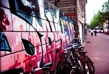 Graffiti on the streets and in hostels