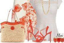 FASHION: Orange * White