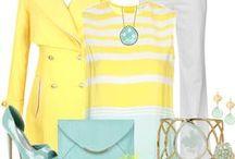FASHION: Pale Blue * Pale Yellow