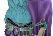 FASHION: Purple * Turquoise