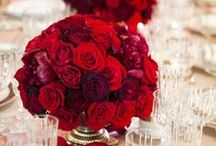 WEDDING: Red / Red * Red and White * Red and Black Wedding Inspirations