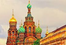 Exploring Russia / Take a trip with us to St. Petersburg - the marvellous city on the Neva River, Moscow - The capital city with its iconic St. Basil's cathedral and all of the other fabulous landscapes, food, attractions and customs this country has to offer!