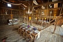 Barn, Farm, & Rustic Chic Weddings / This board features photos of barn weddings, complete with lighting and audio/visual elements, such as uplighting, dance floor washes, custom monogram projections, various string lighting, and pin spotting.
