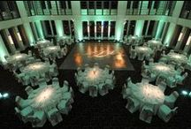 Green Weddings / This board features weddings with shades of green as the prominent color, including design elements such as uplighting, breakup patterns, pin spotting, dance floor washes, intelligent lighting, and audio/visual components.