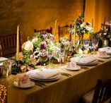 Gold, Amber, Orange, and Yellow Weddings / This board features weddings with shades of amber, gold, orange, and yellow as the prominent color, including design elements such as uplighting, breakup patterns, pin spotting, dance floor washes, intelligent lighting, and audio/visual components.
