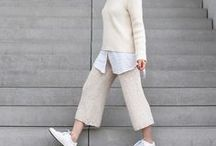 offwhite looks / Looks, Outfits und Streetstyles in weiß, beige und offwhite - edel und voll im Trend!