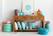 Living Colourful / Bright and colourful boho influenced interiors