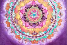 Mandalamania silk painting / Silk painting. Mandalas, pictures, spiritual, Doodle, zentangle, art, healing, drawing