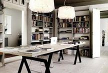 HOME OFFICE & OTHER SPACES / Library, books and beyond - we can help design your office space http://www.marccoandesigns.com/ Gathering great ideas and images from around the globe to inspire your next  project.  These are not images of work that we have completed, but rather from those that inspire us.