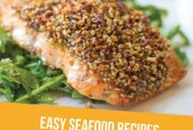 Easy Seafood Recipes / easy seafood recipe, salmon, trout, shrimp, lobster, crab, scallops, tuna, sushi, tilapia, crusted fish, fish, fish recipe, simple fish recipe, quick seafood recipe, 30 minute recipe, baked fish, fried fish, catfish, prawns, crawfish, seafood boil, fresh fish, fish taco, ceviche