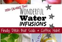 Wonderful Water Infusions / Quit the Soda and Coffee habit and try these zero calorie OMG Delicious Water Infusion Recipes.
