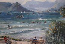 Plein air Kommetjie paintings Beth Lowe / Beth Lowe paints pleinair