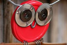 Glass/Metal Crafts / Recycled items - neat ideas!