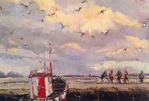 Paintings en plein air Beth Lowe / Paintings by Beth Lowe