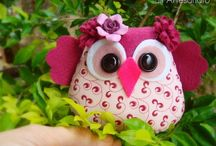 "Owls... / Owl stuffies, glassware, & just ""cute""!"