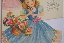 """Vintage Greeting Cards & Illustrations... / Cards, etc. from """"back in the day..."""""""