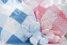 Baby-deken freubels / handgemaakte dekens als voorbeeld