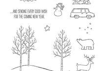 """""""White Christmas"""" & """"Endless Wishes"""" Christmas  Cards.... / Stampin Up 2014"""