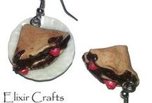 Polymer clay earrings by Elixir Crafts / Polymer clay earrings 100% handmade without molds!