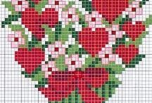Cross stitch hearts / For my daughter wedding
