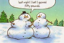 "Snow ""cartoons"" & Christmas jokes! / It's Snow Jokes,  Santa sillies, etc."