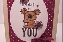 """Kind Koala"" Cards / Stampin' Up 2014-15 catty"