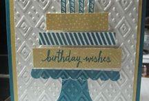 """Build a  Birthday"" Cards / S.U. 2015 - 2016 Stamp Set"