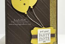 """""""Party Pants"""" & Balloon Cards / SU 2016 SAB"""