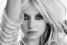 Taylor / Preppy girl turned hard rocker Taylor Momsen.