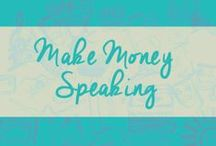 {Make Money Speaking} / One of the most creative and influential ways to make money in your craft is to share your stories and knowledge with others that want to grow in their creativity as well. Discover how to make money as a speaker while staying true to your creative soul at the same time.