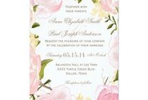 Romantic Floral Wedding Cards / Romantic Floral Wedding Cards