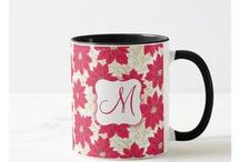 Christmas gift mugs and monogram mugs / Christmas gift mugs and Xmas monogram mugs. Nice and cute Holiday greetings mugs.