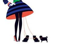 Skirt Art (Illustrations) / The lines between fashion and art blur beautifully here!