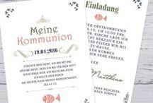 Kommunion Konfirmation Jugendweihe Firmung / Karten und Dekoration zur Kommunion / Erstkommunion Konfirmation Jugendweihe Firmung