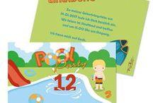 Kindergeburtstag / Einladungskarten und Partyzubehör für den Kindergeburtstag